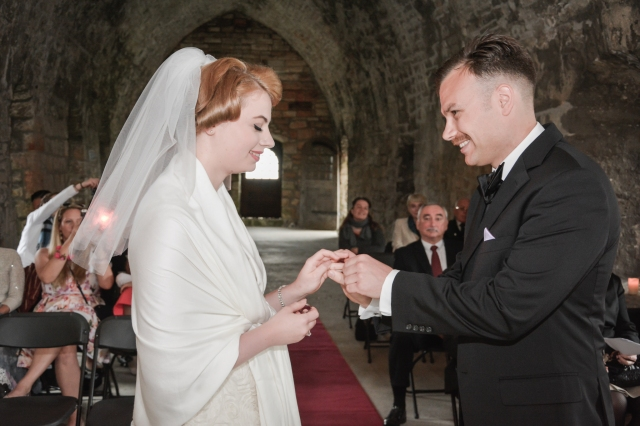 Personal Wedding Ceremony on Inchcolm Island conducted by Marriage Celebrant, Onie Tibbitt, Scotland.