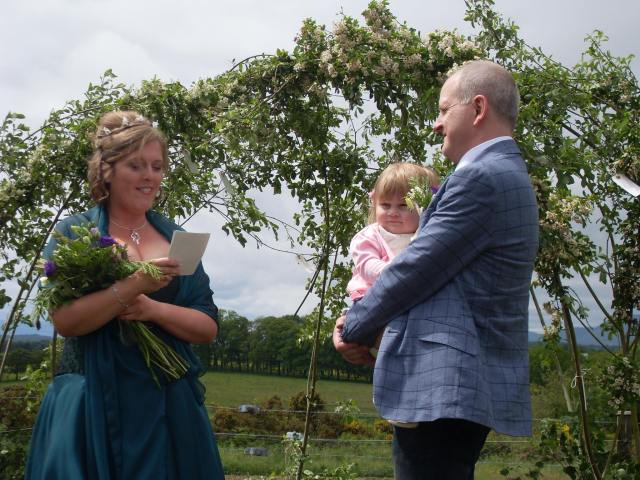 Bespoke Naming Ceremony and Family Celebration conducted by Onie Tibbitt, Naming Celebrant with Agnostic Scotland.