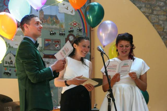 Quirky and Fun Wedding Ceremony conducted by Onie Tibbitt, Wedding Celebrant in Edinburgh, Scotland.
