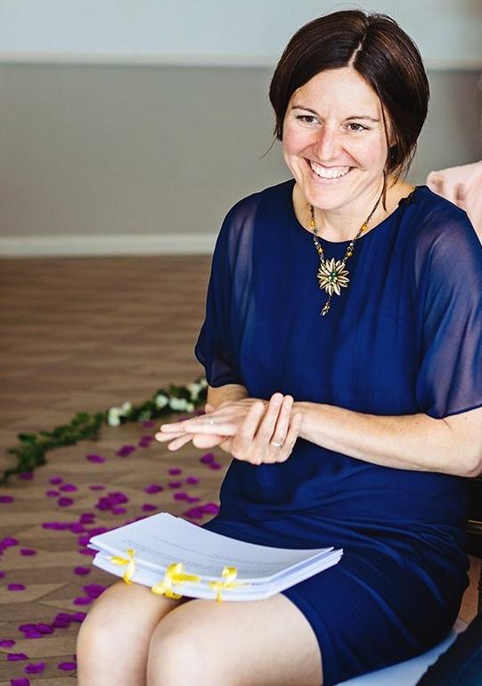 Onie Tibbitt, Independent Wedding Celebrant based in Edinburgh, Scotland.